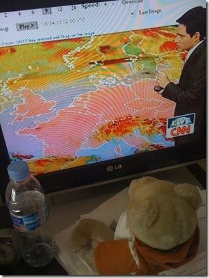 CNNの火山灰飛散状況報道