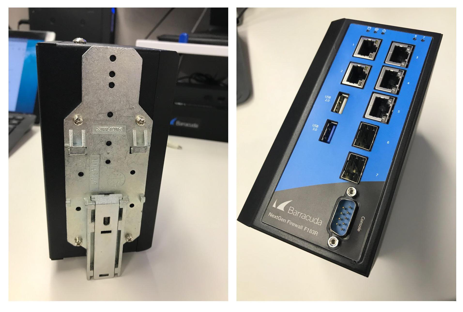 DINレール、DC電源に対応するCloudGen Firewall F180R