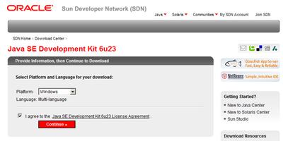 Sun Java Development Download 1.6