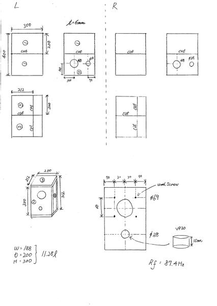 PM-M0841CK エンクロージャー 設計図面