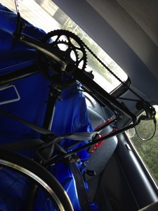 積み込んだ自転車