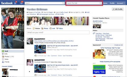 Facebook、Bing連携強化か。Bing検索窓をテスト中:In The Looop:オルタナティブ・ブログ